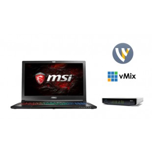 Portable Live Video Streaming Kit - MSI 15-inch, vMix 4K or Wirecast 7 or Livestream Studio and AJA Io 4K