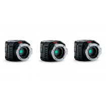Blackmagic Micro Studio Camera 4K x 3 Camera Bundle