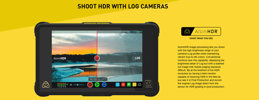 Atomos Shogun Inferno with AtomHDR
