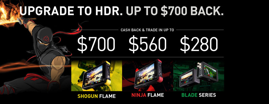 Atomos Trade In and Cash Back Offer