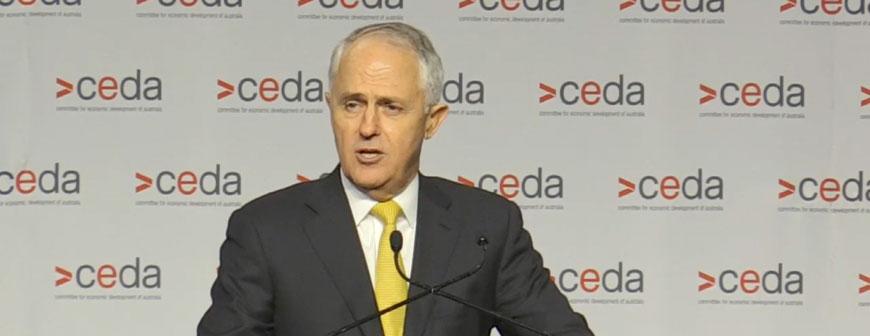 CEDA Live Stream Malcolm Turnbull