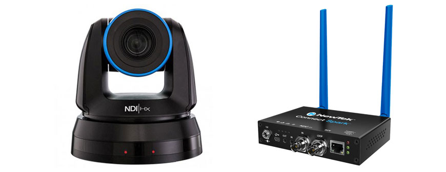 Newtek NDI PTZ Camera and Spark