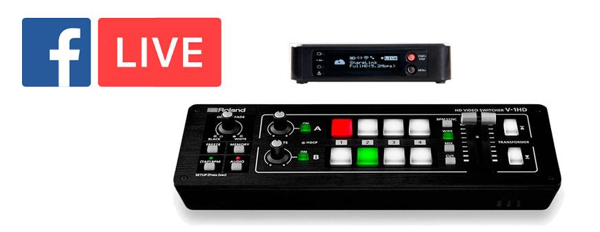 Facebook Live Bundle - Teradek Vidiu Pro and Roland V1HD